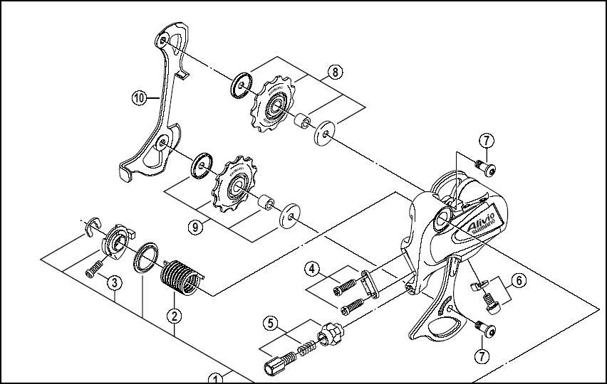 shimano ultegra rear derailleur manual